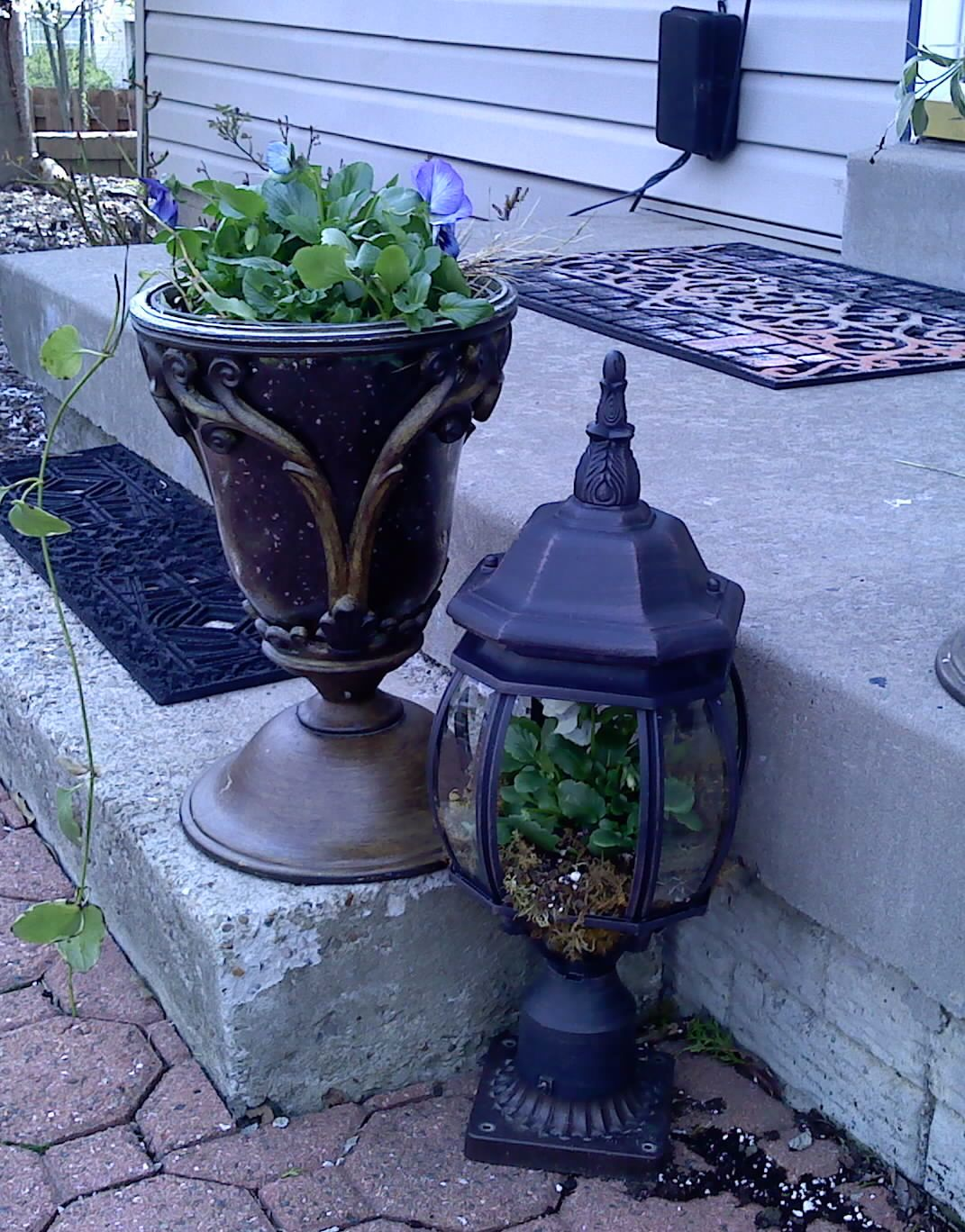Old light fixtures repurposed into planters diy craft ideas old wall light fixtures repurposed into planters perfect for outdoor cottage arubaitofo Gallery
