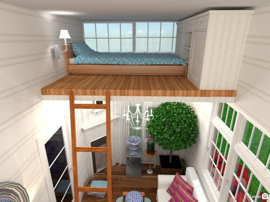 Tiny House With Mezzanine Bed Rumah