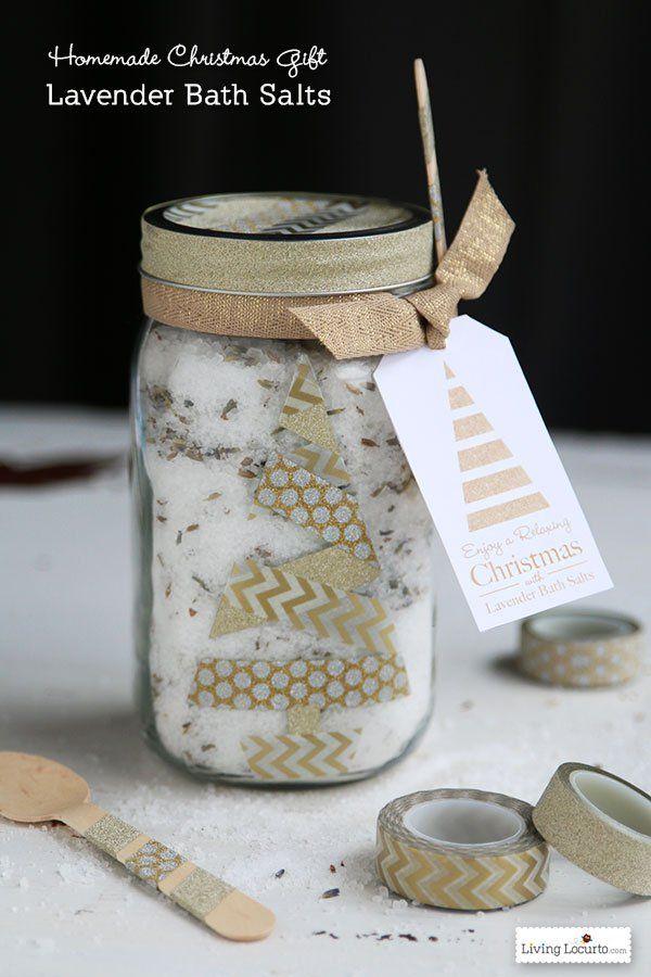 HAPPY Holidays: Lavender Bath Salt Gift in a Jar | Bath salts ...