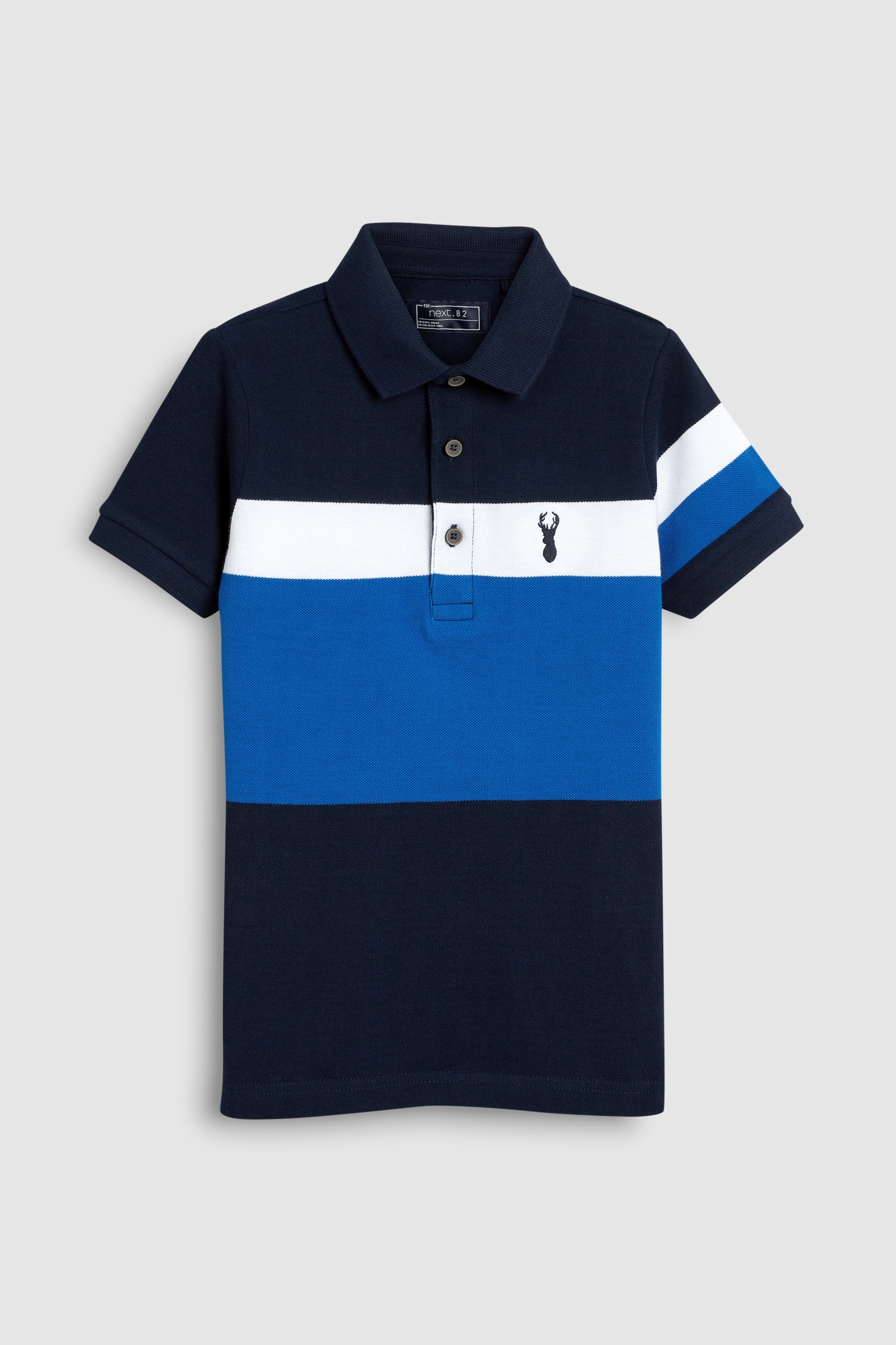 6a8bd32f1 Buy Colourblock Polo T-Shirt (3-16yrs) from the Next UK online shop ...