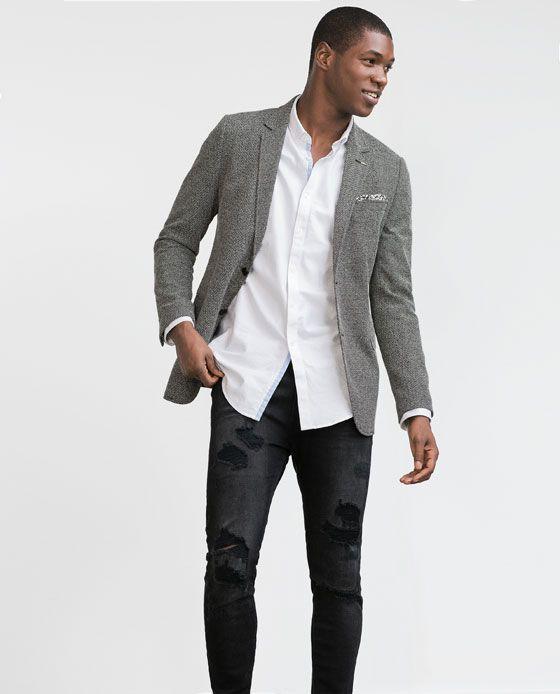 uk availability 4eb34 0c09b blazer-otoño-invierno-2015-2016-modelo-gris-de-zara   Pintas Hombre en 2019    Pinterest   Ropa masculina, Moda y Hombres