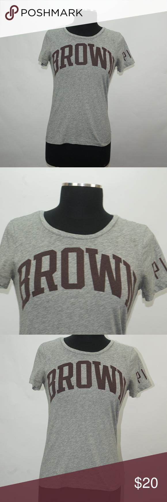 043cb2893a13b Pink Brown University Collegiate Tee Shirt XS Pink Victoria Secret ...