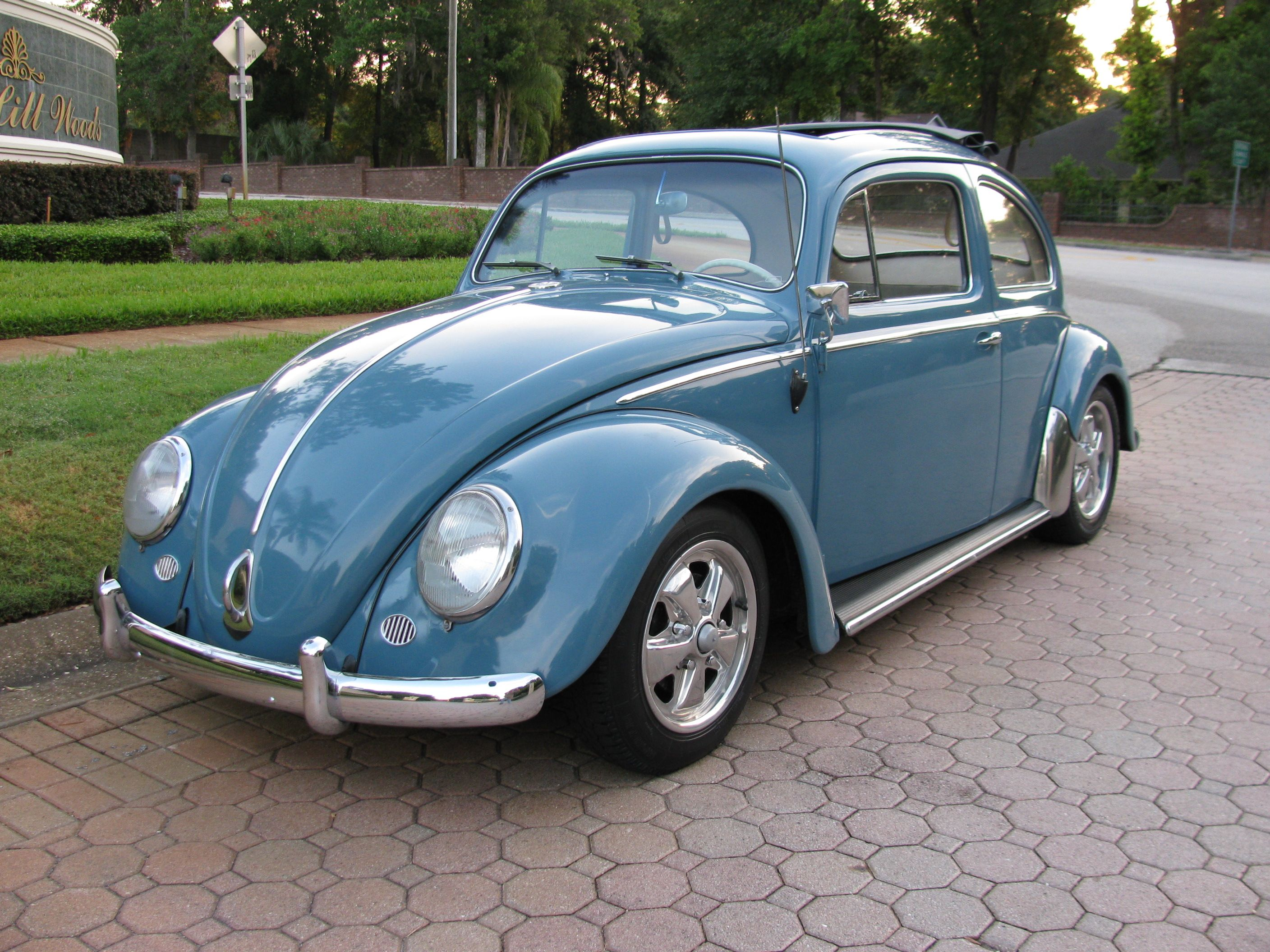 1958 vw bug ragtop 018 i want one like this but with the rack on a hardtop