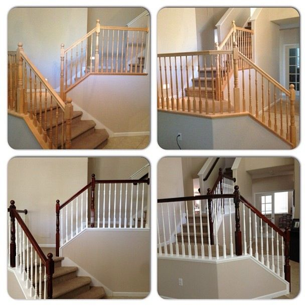 DYI Stair Case Banister Conversion Using Minwax Espresso