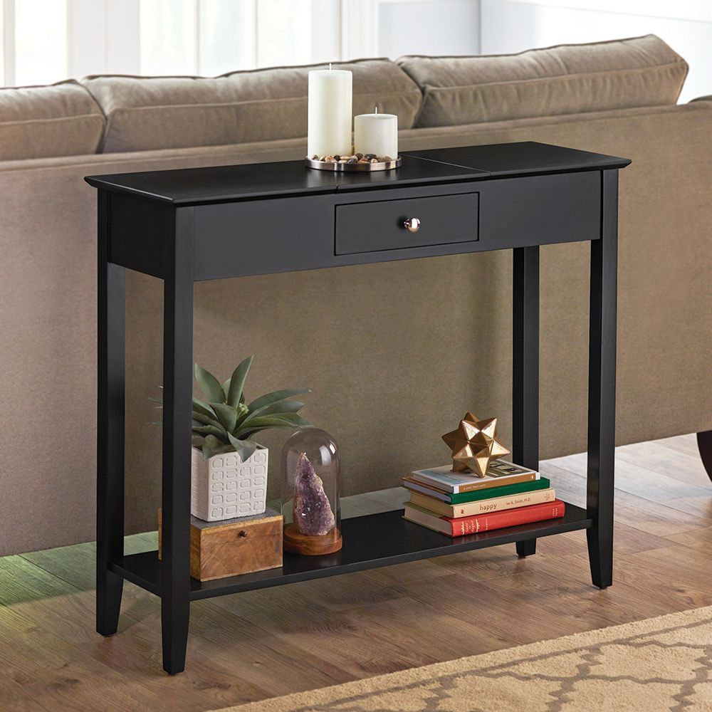 The Hidden Storage Console Table Hall Console Table Black