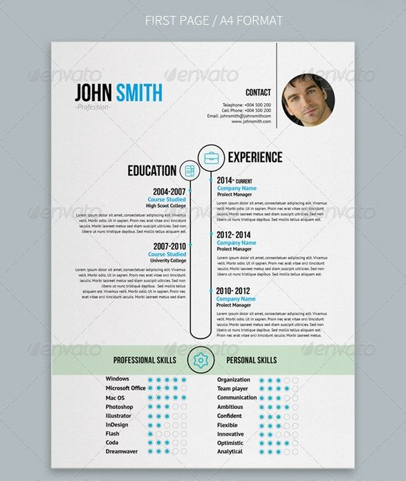 Awesome Resume\/CV Templates 56pixels grafiche Pinterest - clean resume design