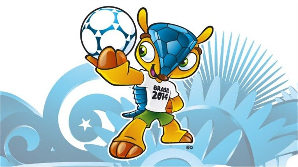 The 2014 Fifa World Cup Mascot A Unique Brazilian Three Banded Armadillo Yet To Be Named Soccer World World Cup Brazil World Cup