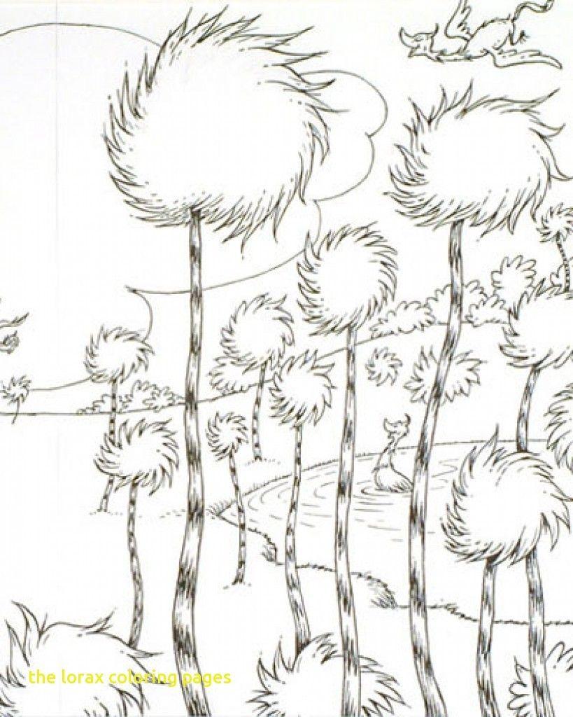 The Lorax Beautiful Truffula Tree Guarded By The Lorax Coloring