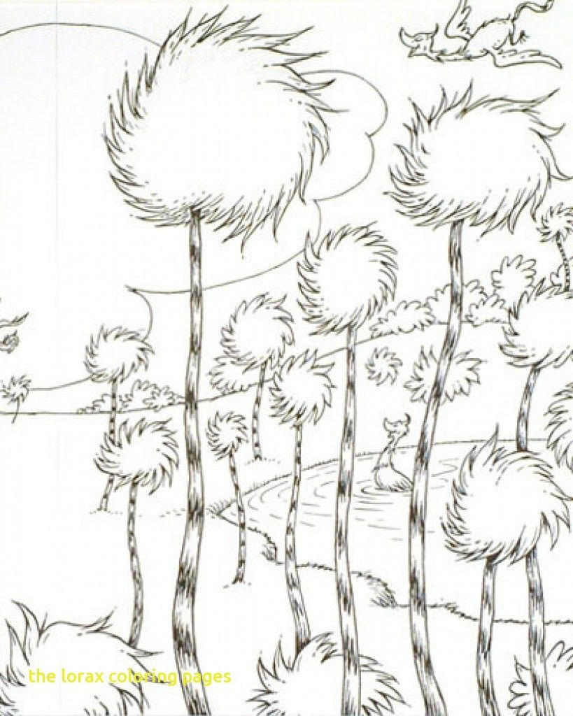 Elegant Photo Of The Lorax Coloring Pages The Lorax Dr Seuss