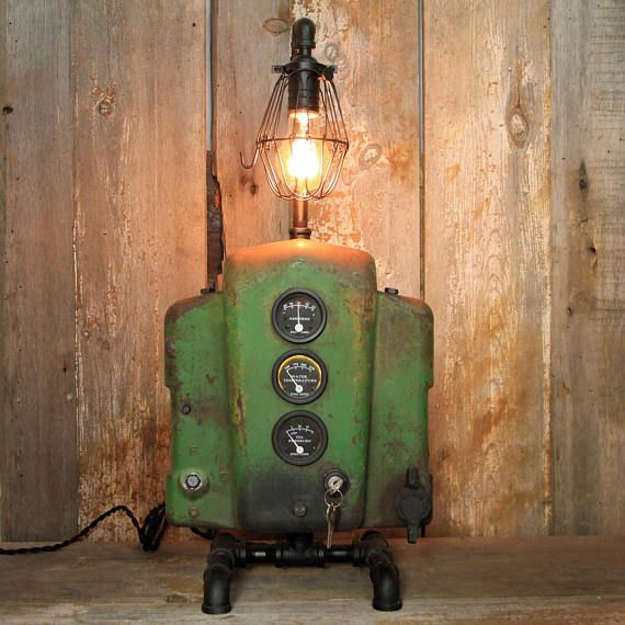 Industrial desk lamp made from vintage john deere parts steampunk industrial desk lamp made from vintage john deere parts steampunk table lamp industrial lighting 125 aloadofball