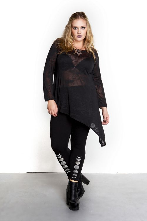 Domino Dollhouse - Plus Size Clothing: Edge Top in Burnout | I'd ...