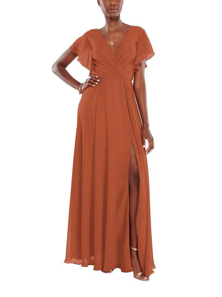 Aura Zoe Bridesmaid Dress Brideside Orange Bridesmaid Dresses Burnt Orange Bridesmaid Dresses Rust Bridesmaid Dress [ 1024 x 768 Pixel ]