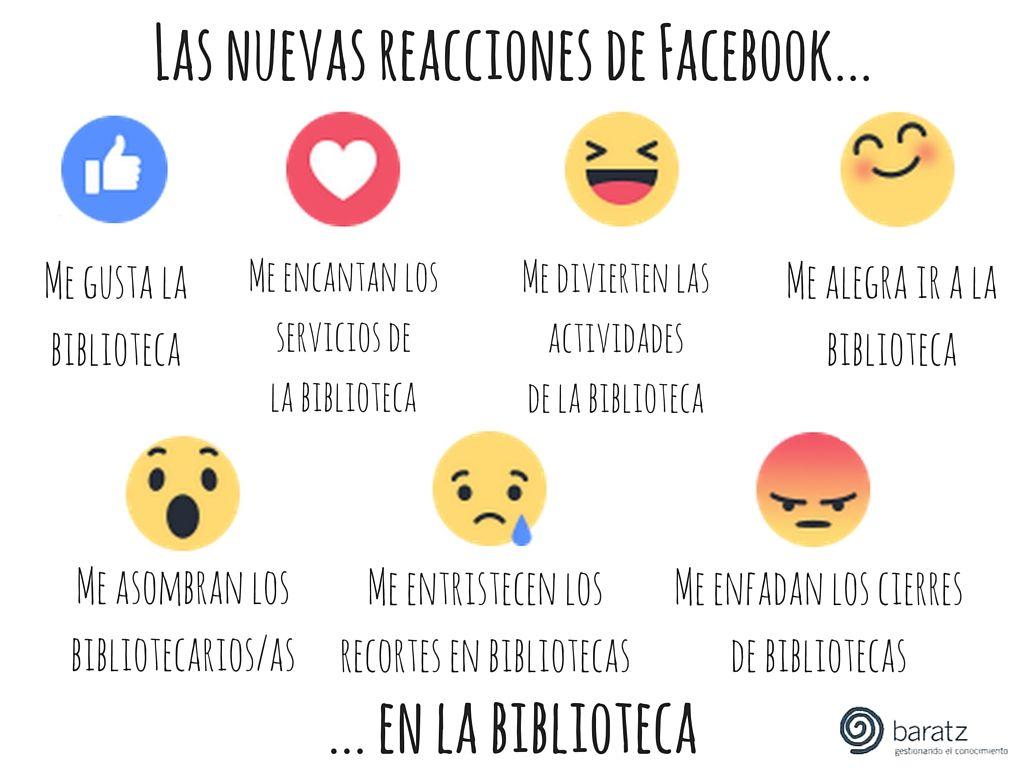 Las nuevas reacciones de Facebook... en la biblioteca | Nuestros ...