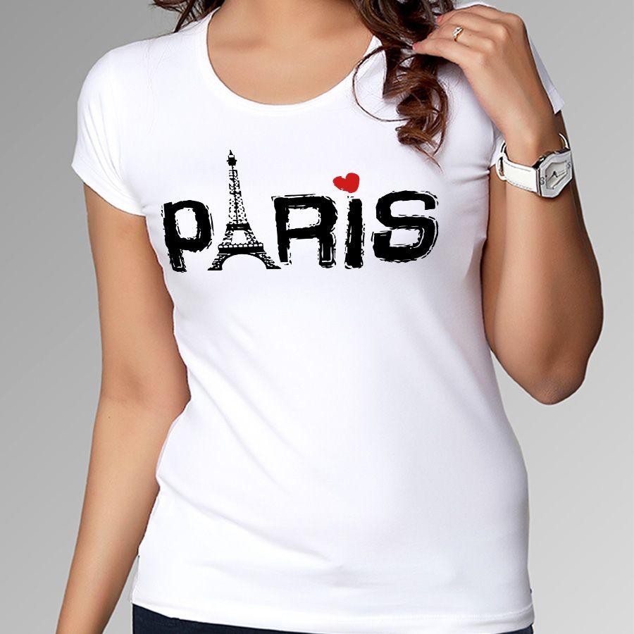 ac19558b Pas cher Slim Fit Love PARIS femmes T Shirt pas cher O cou filles T Shirt