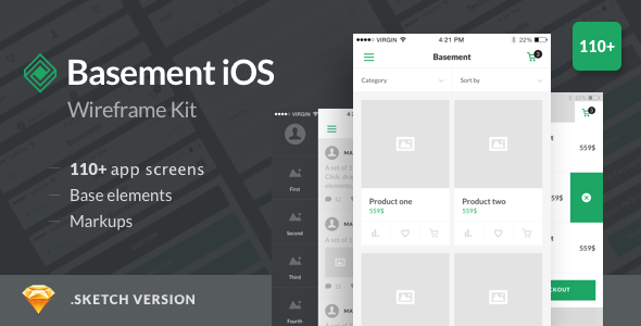 Download Free Basement iOS Wireframe Kit - 110+ App ...