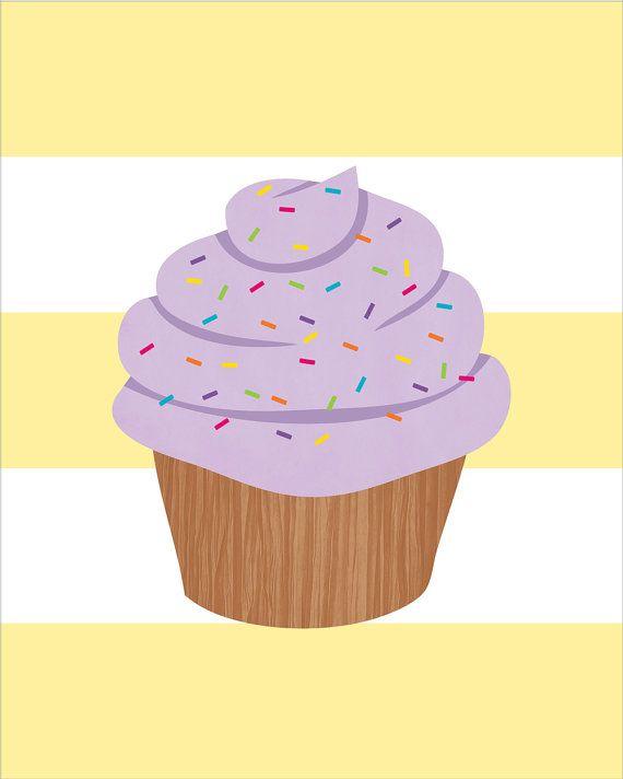 Cupcake Nursery Decor Kids Por Daphnegraphics