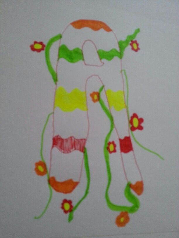 I made this with highlighters and a pen.