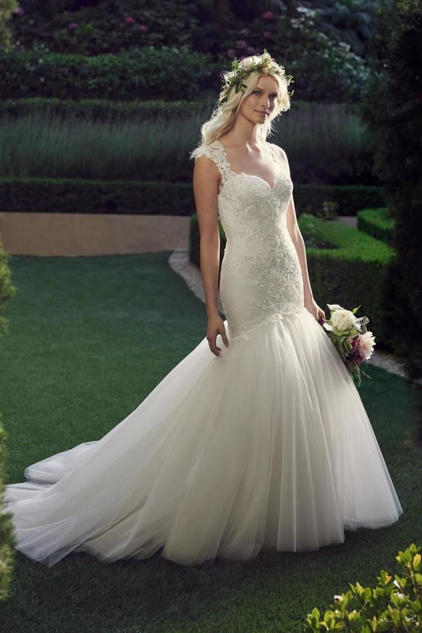 Casablanca Bridal Fitted Mermaid Gown, Wedding Dresses ...