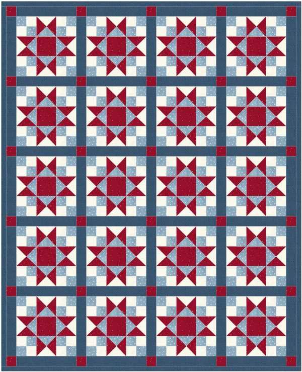 Secondary Design For A Star Patch Quilt Patches And Barn Quilts
