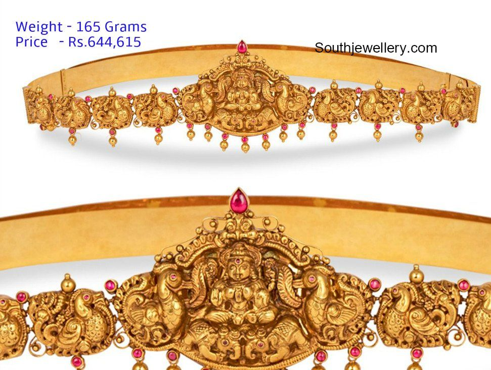 Vaddanam Designs With Price And Weight Gold Jewellery Design Necklaces Antique Jewellery Designs Vaddanam Designs