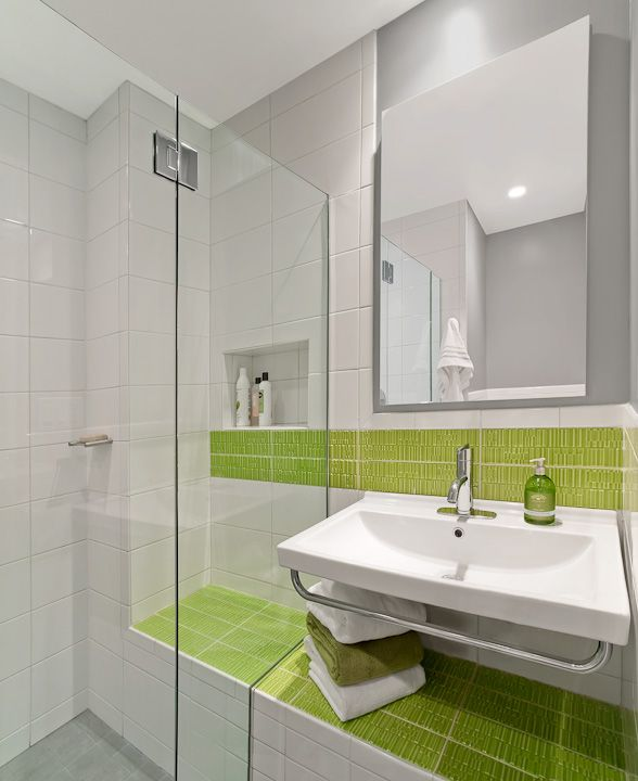 Lovely Pleasantville Bathrooms   Luminosus Designs · Light Gray BathroomsLime Green  ... Awesome Design