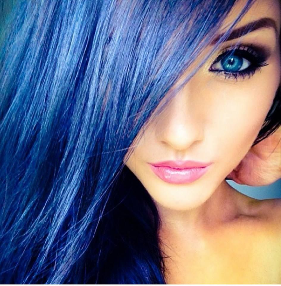 Sweet blue hair hairstyle  HAIR  Pinterest  Blue hair and