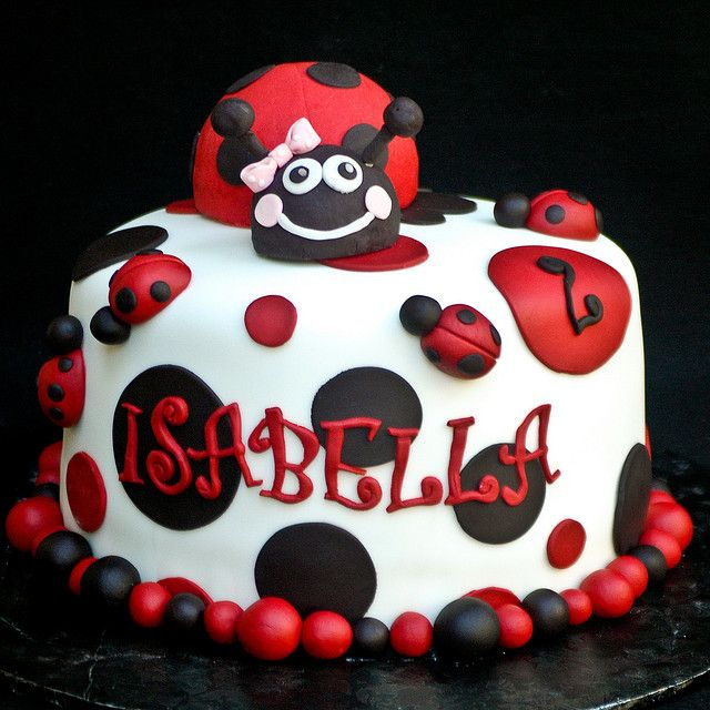 Lady Beetle Cake Designs