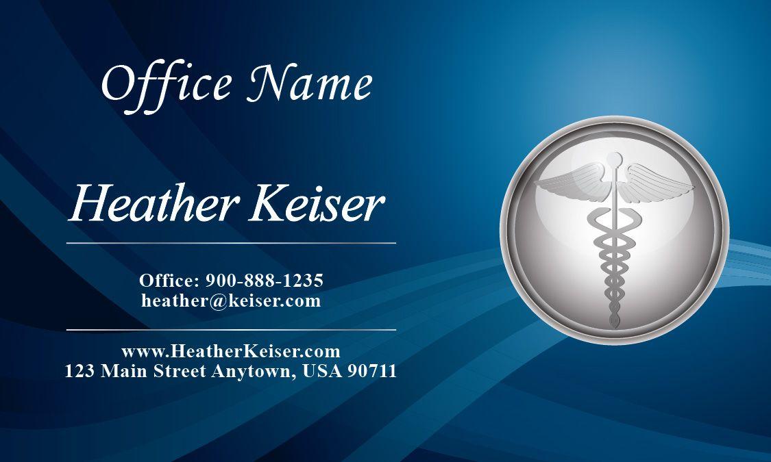 Silver Medical Symbol Doctor Business Card Design 301221 Doctor Business Cards Visiting Card Design Business Card Design