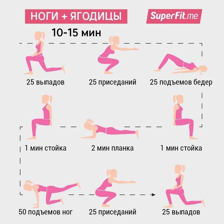 Схема похудения ног упражнения