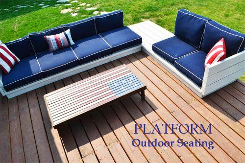 Platform Outdoor Sectional Diy Furniture Easy Outdoor