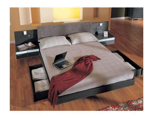 The Furniture Matt Finished Queen Size Platform Bed