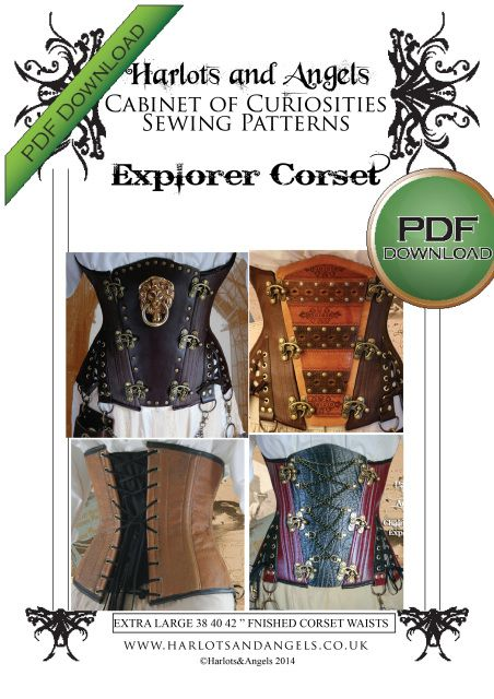 Plus sized corset Pattern New release in download pdf. extra large ...