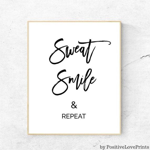 Gym, Workout, Exercise Printable Motivational Wall Decor
