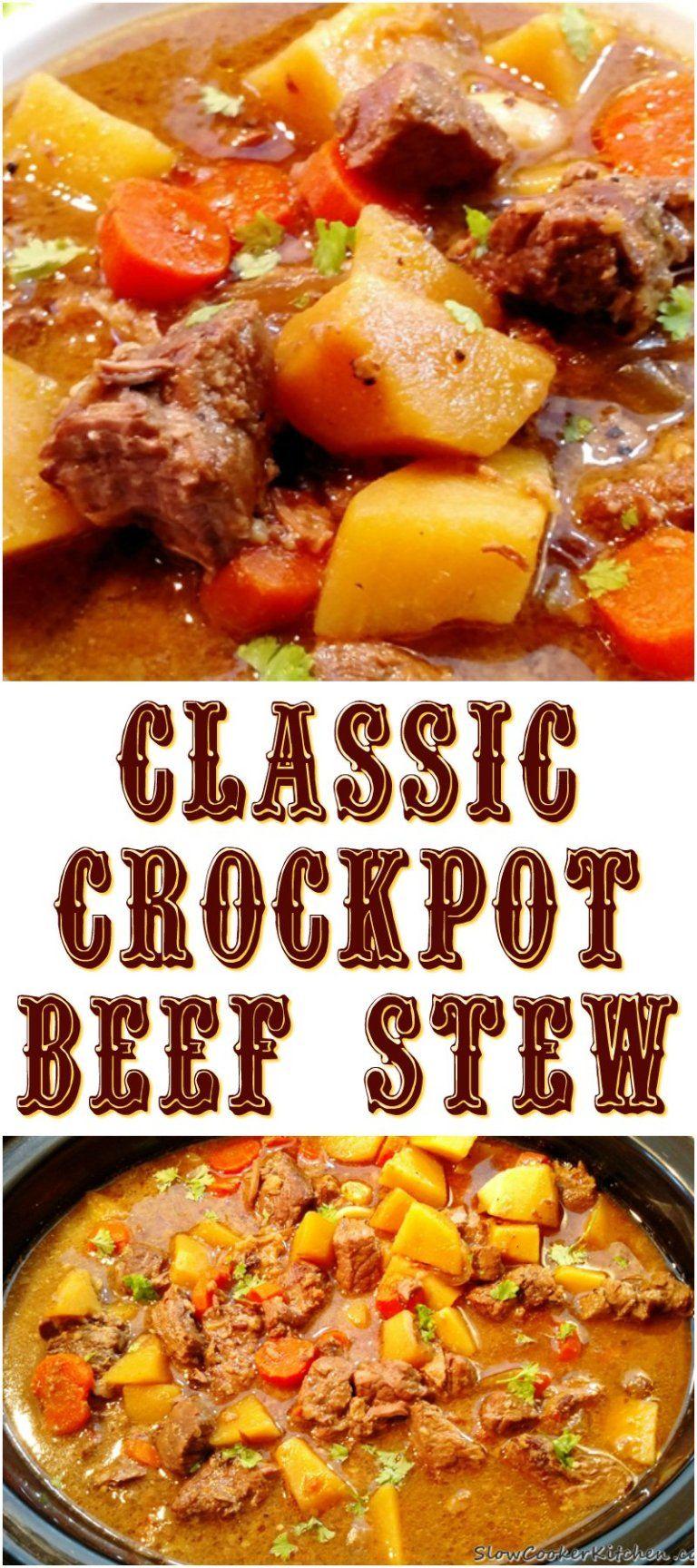 Classic Crock Pot Beef Stew images
