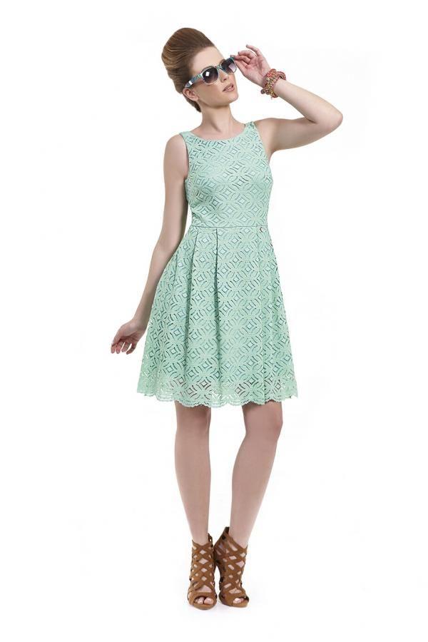 453fb8bffc6 Φόρεμα δαντέλα σε γραμμή Cinderella πάνω από το γόνατο αμάνικο με παπιόν  πίσω