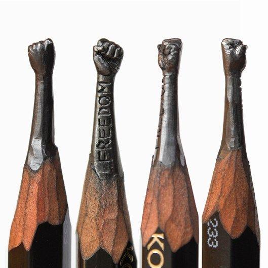Artista russo cria esculturas detalhadas feitas na ponta de lápis comuns - Mega Curioso