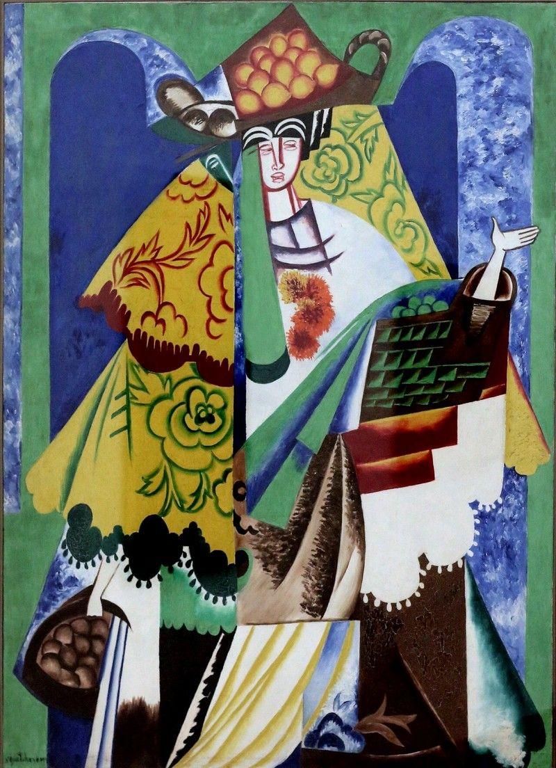 Natalia Goncharova The Orange Vendor 1916 Painting Artwork Painting Jewish Artists
