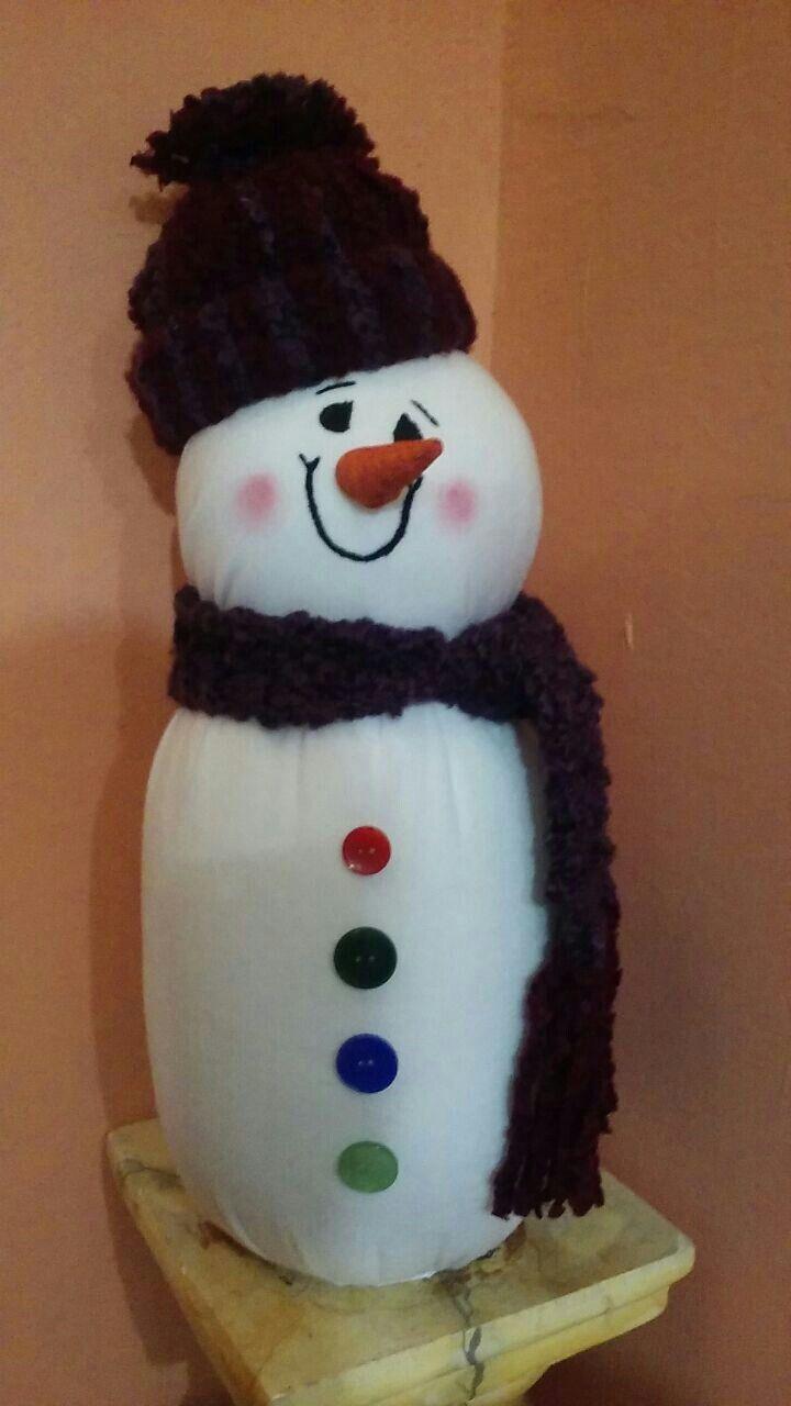 Decoracion navideña muñeco de nieve