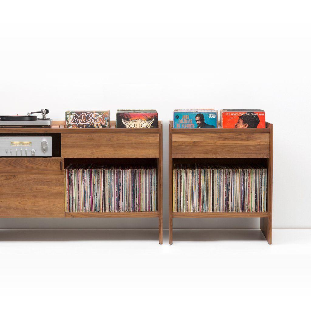 Unison Walnut Record Storage Stand Vinyl Storage Vinyl Record Storage Record Storage