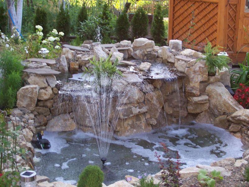 cascada para jardines jardin Pinterest Cascadas para jardin
