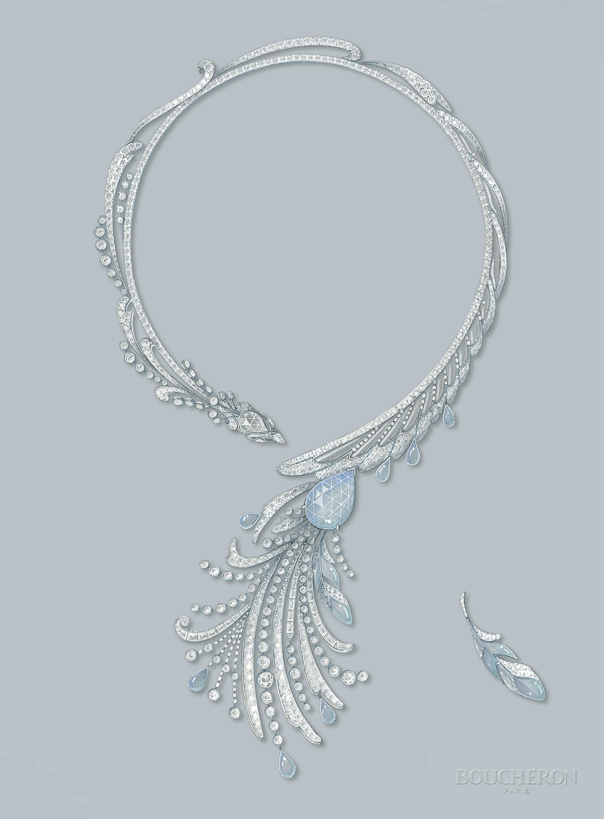 Paon De Lune Necklace