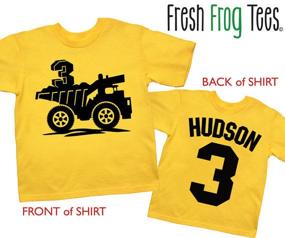Construction Birthday Shirt Personalized Dump Truck 1st 2nd 3rd 4th 5th Tshirt