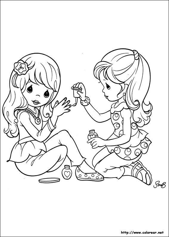 Dibujos Para Colorear De Preciosos Momentos Dibujos Libro De Colores Figuras Para Colorear