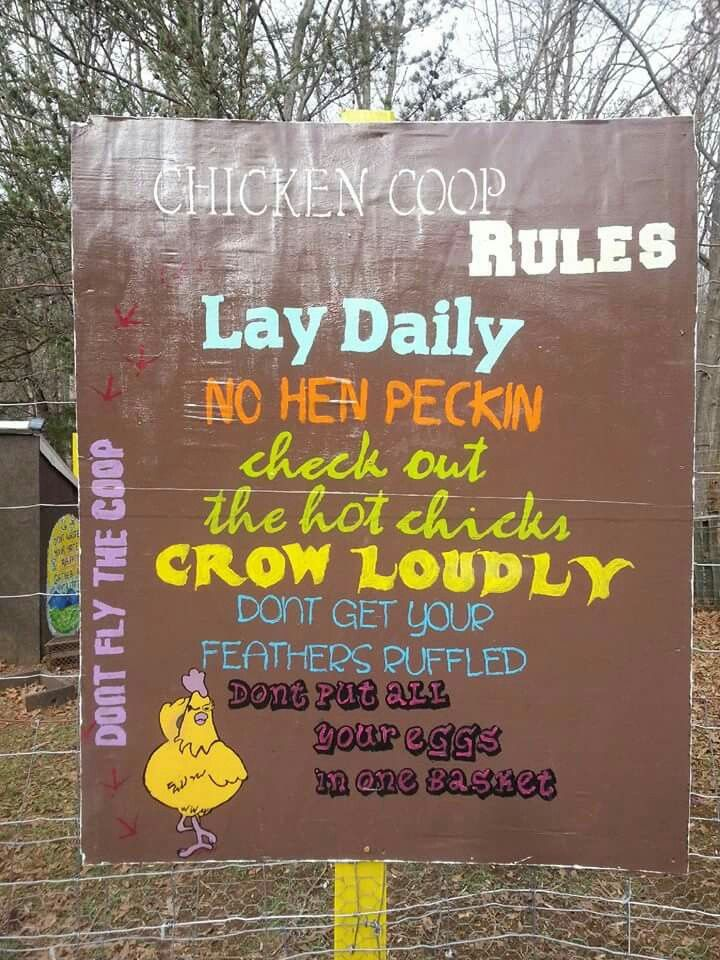 Cute sign for the coop also what killed my chickens  handy chart pinterest rh