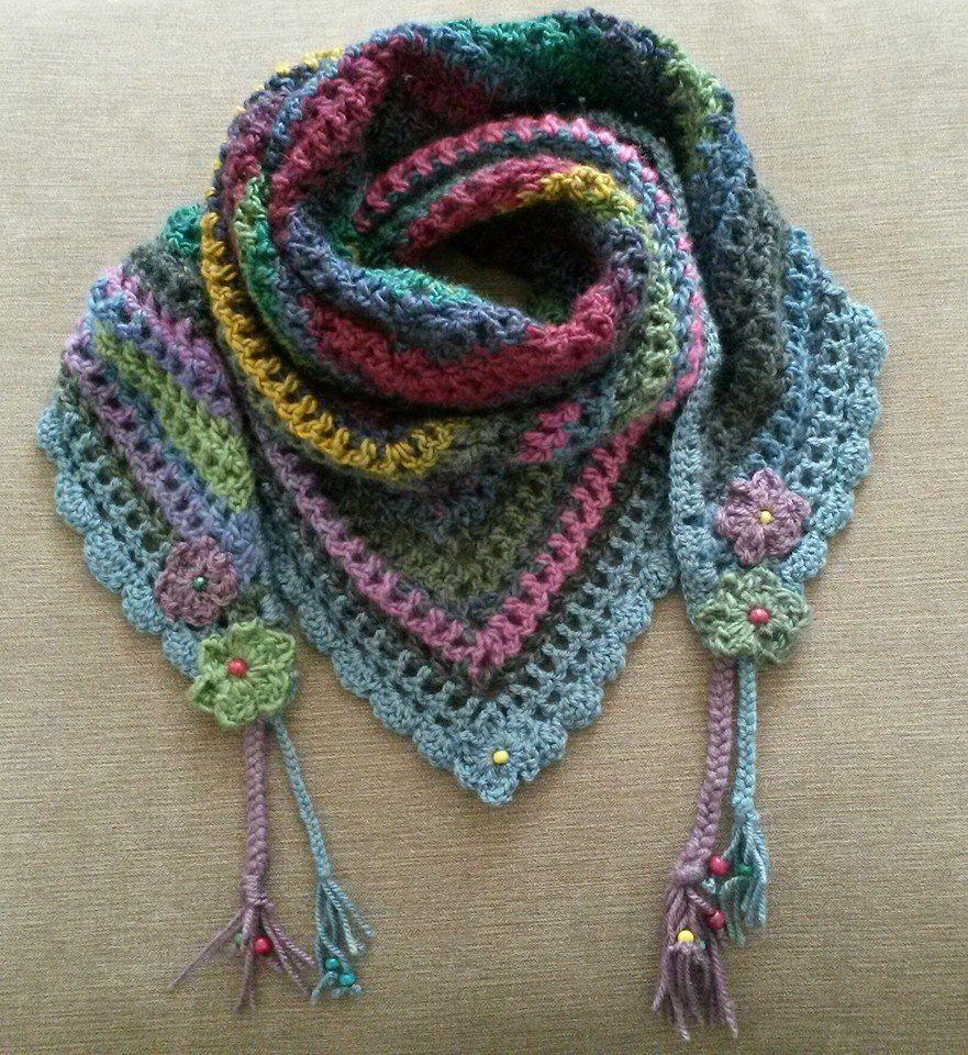 Road trip scarf. Pattern by Zooty Owl. http://zootyowlcards.blogspot.co.uk/2014/06/road-trip-scarves-pattern.html