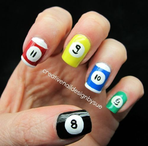 Creative Nail Design Pool Ball - Creative Nail Design Pool Ball Must Try Nails Pinterest