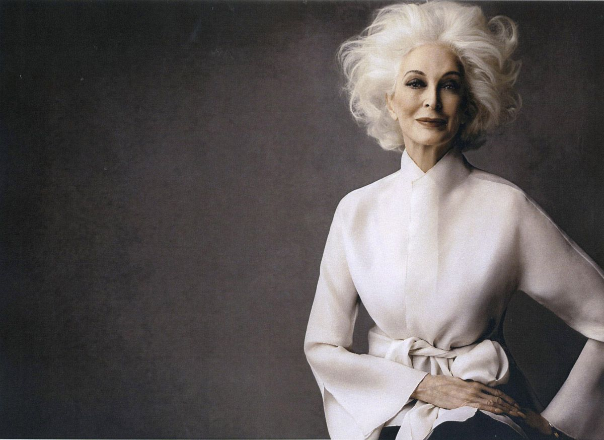 Carmen Dell'Orefice hair by wendy iles - hairbrained