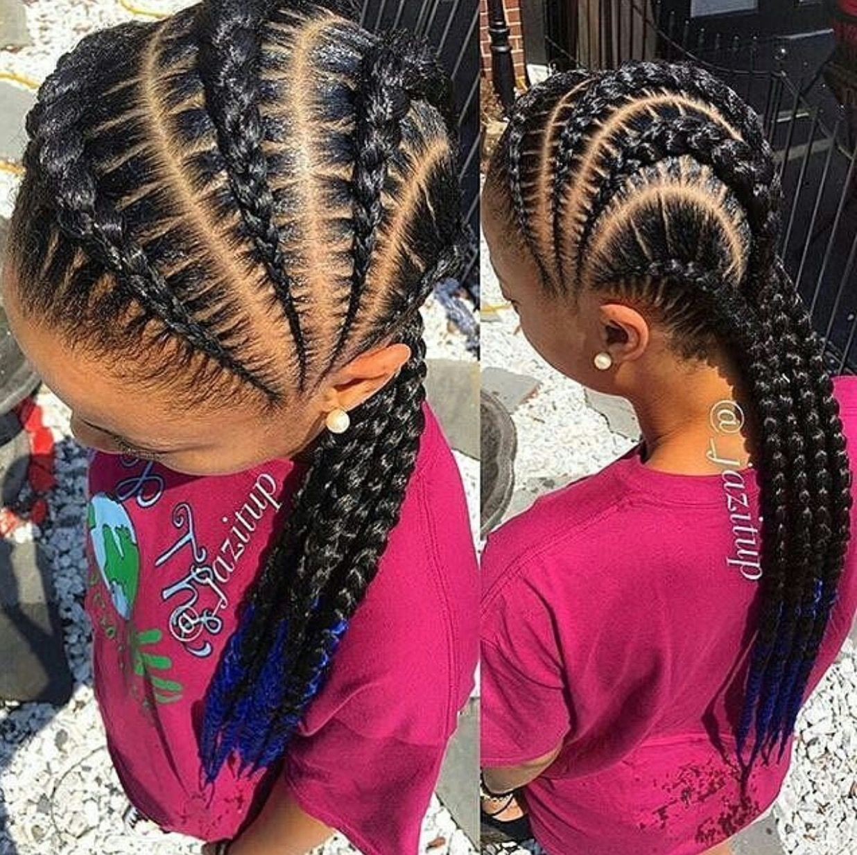 side goddess braids