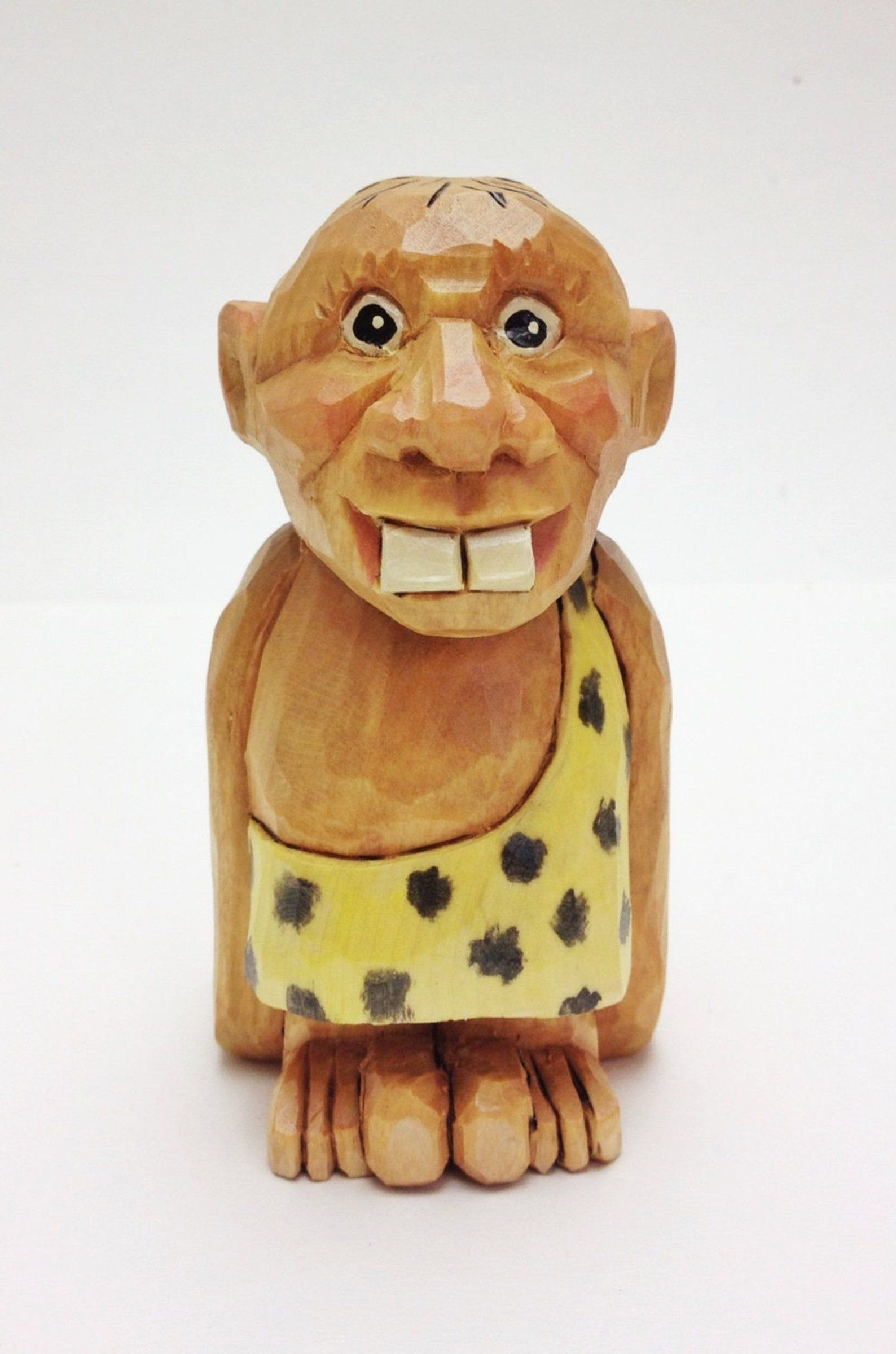 Hand carved caveman gift for him unique gift gift for man