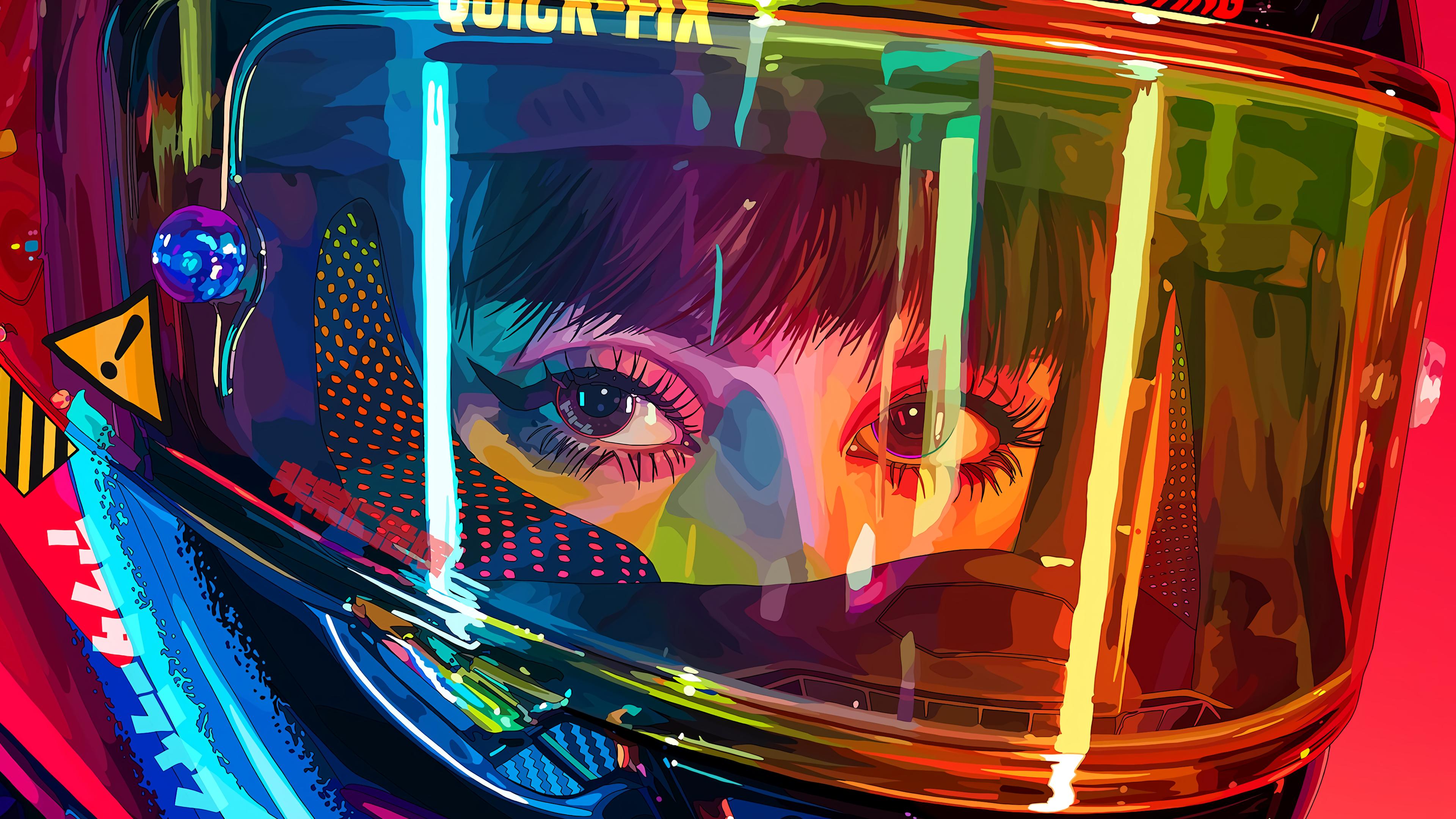 Biker Girl [3840x2160] in 2020 Cyberpunk anime